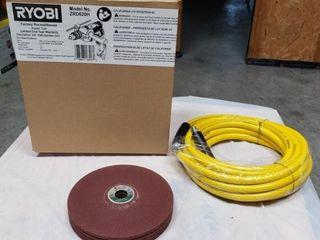 Hammer Drill  3 8  Air Hose   Sanding Discs