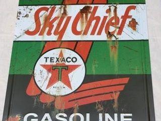 Texaco Sky Chief Gasoline Metal Sign