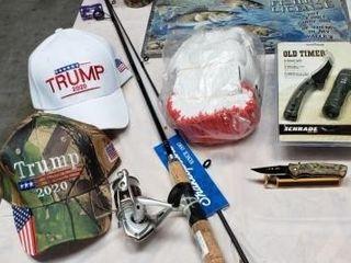 Fishing Pole  Hats  Gloves  Sign  Tumbler   Knives