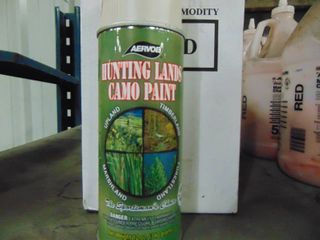 CAMO SPRAY PAINT   HUNTING lANDS CAMO PAINT   lOT OF 6 CANS COlOR IS SAND