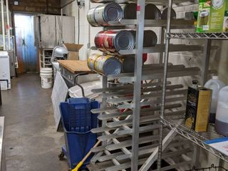 Commercial Aluminum Can Rack  Contents Not Included