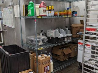 Shelving  Contents Not Included  Buyer Responsible For Removal