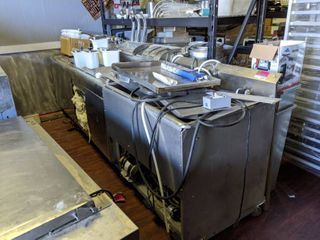 Antique Soda Fountain  Buyer Responsible For Removal  Super Heavy  Not On Casters