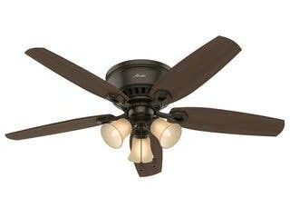 Hunter 52  low Profile Indoor Ceiling Fan with lED light Kit and Pull Chain  Retail 84 49