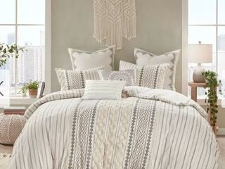 The Curated Nomad Clementina Cotton  King Cal King  Comforter Set Retail 117 32