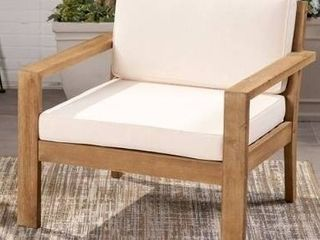 Santa Ana Outdoor Acacia Wood Club Chair with Cushion by Christopher Knight Home   Damaged  See Photos  Retail 484 99