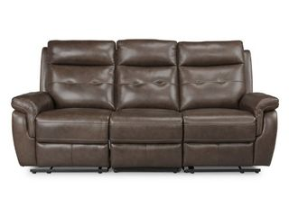 Home Styles by Flexsteel lux leather Power Motion Reclining Sofa  1 of 3  Right Seat Only  Not Complete