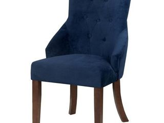 HomePop Emily Accent Chair Navy Suede  Retail 164 49