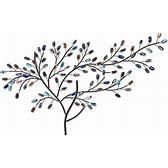 Willow Multicolored Metal and Glass Tree Wall Sculpture  Retail 76 98