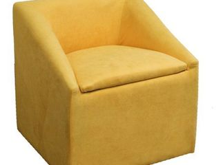 Kids Yellow Suede Accent Chair with Storage  20 75  Retail 109 99