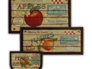 Mohawk Home New Wave Fruit Crate Rugs  Set of 3
