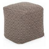 Boven Hand Crafted Cotton Cube Pouf by Christopher Knight Home  Retail 85 49