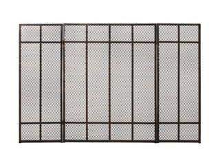 Capaum Modern Iron Fireplace Screen  30 x45 x1 25
