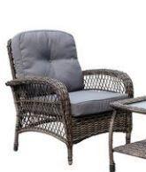 Corvus Padova 2 piece Wicker Patio Club Chair  Grey Blue