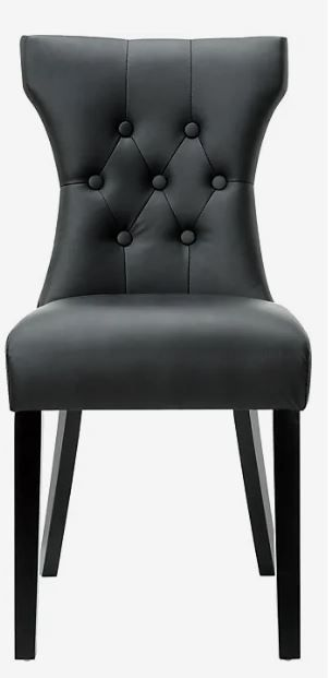 Porch   Den Hester Modern Black Dining Chair  hardware not complete  see photos  Retail 208 99