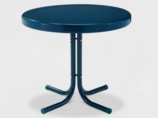 Retro Blue Navy Metal Side Table