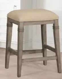 The Gray Barn Chatterly Backless Non swivel Counter Stool   18 5 W x 15 75 l x 25 25 H  Retail 108 49  Damage Stain on Fabric