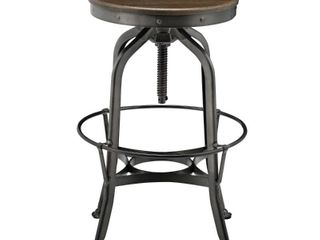 Industrial Swivel Vintage Bar Stool  Walnut  Retail 155 49