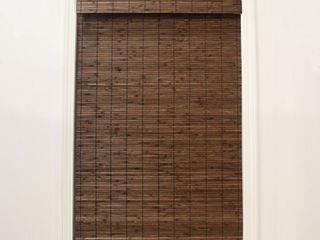 Radiance Cordless Cocoa Dockside Flatstick Bamboo Roman Shade  27  x 64