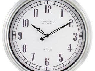 Equity by la Crosse 16 inch Indoor Outdoor Silvertone Wall Clock