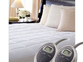 Sunbeam SelectTouch Premium Quilted Heated Mattress Pad   King Size  Retail 107 99