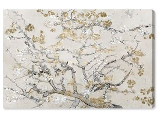 Oliver Gal  Van Gogh in Gold Blossoms Inspiration light  Classic and Figurative Wall Art Canvas Print 30  x 20    Gold Gray  Retail 125 49