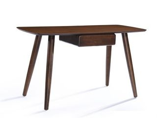Kiersten Wood Study Table Desk with Overlay by Christopher Knight Home  Natural Walnut  Retail 167 49