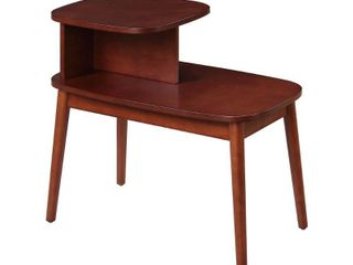Convenience Concepts Maxwell Mid Century End Table Mahogany Finish
