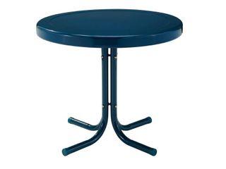 Crosley Furniture Retro Metal Side Table In Navy