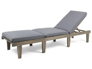 Outdoor lounge Chair  Weathered Brown  No Cushions