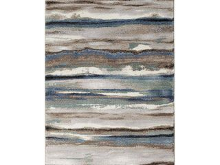 Trisha Yearwood Home Collection Relax Maisie Dusk Multi Woven Area Rug  5  x 7 6   Retail 218 99