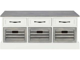 Traditional White and Grey Cabinet   39 25  x 13 75  x 17 75  Retail 233 49