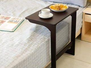 Z l Shape Wood Side Table  Espresso
