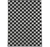 DIAGONAl BUFFAlO PlAID BlACK   WHITE Kitchen Mat by Kavka Designs  Retail 115 49