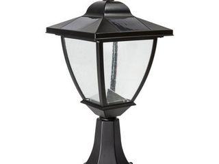 Classy Caps Elegante 17  Tall led Solar Convertible Outdoor Post light     Black