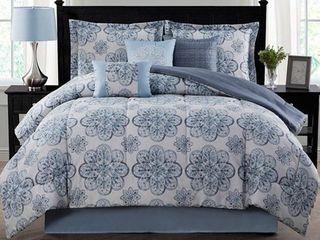 Style Decor Nastia 7 Piece Reversible Comforter Set  Full Queen