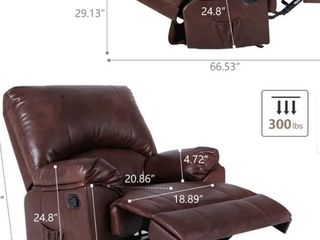 Massage Sofa Recliner Chair with Heating System  Brown  Retail 361 99