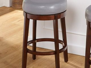 Simple living 24  Avenue Swivel Counter Height Stool  Grey  Retail 90 98
