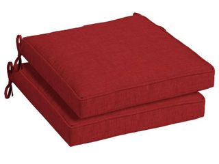 Arden Selections Ruby leala 21  x 21  Outdoor Dining Seat Cushion  Set of 2