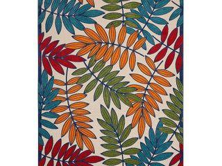 Nourison Aloha Indoor Outdoor Area Rug  7 x10  Botanical Multicolor