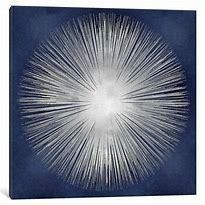 Silver Sunburst by Abby Young Canvas Print