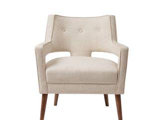 Madison Park Nicoli Cream Accent Chair   Retail 374 00