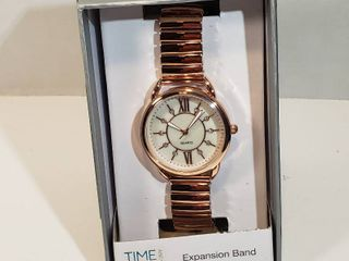Time and Tru expansion band rose gold 12 hour dial Crystal accent face women s wrist watch