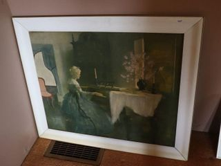 FRAMED MARGUERITE PEARSON PAINTING 35  X 30