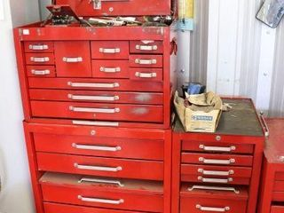 2PC MECHANICS TOOl CHEST WITH SIDE CABINET