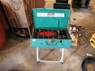 COlEMAN CAMP STOVE   STAND