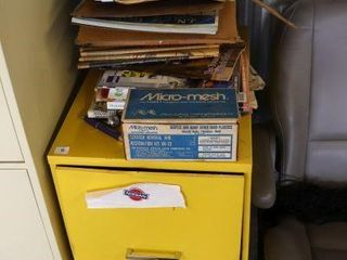 2 DRAWER FIlE CABINET   CONTENTS
