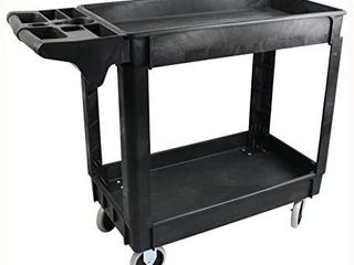MaxWorks 80855 500 Pound Service Cart With Two Trays  30  x 17  Overall Dimensions