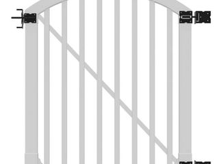 WamBam Traditional 4 by 4 Feet Premium Vinyl Yard and Pool Gate with Powder Coated Stainless Steel Hardware