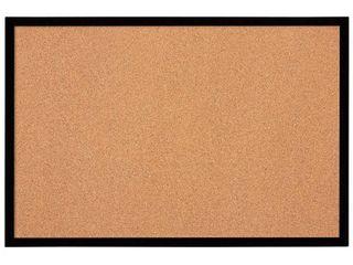 Quartet Cork Board Bulletin Board 2  X 3  Framed Corkboard Black Frame Decora